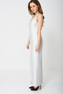 MAXI DRESS IN GLITTER FINISH EX-BRANDED - Penny Store Limited