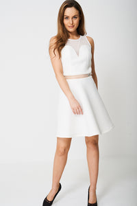 DRESS WITH PLUNGE FRONT AND MESH TOP EX-BRANDED - Penny Store Limited