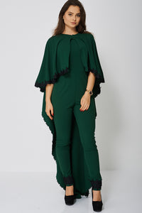 JUMPSUIT AND CAPE SET IN GREEN - Penny Store Limited