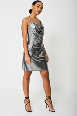 SEXY FOIL DRESS EX-BRANDED - Penny Store Limited