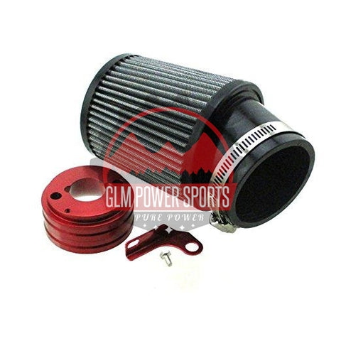 Race Air Filter Kit, Velocity Stack Style - GX200, GX160, 6.5 Chinese OHV, & 212 Predator - GLM POWER SPORTS