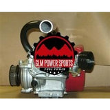 Header, Mini Bike, Single, Center Outlet, for Clamp on Muffler, GX200, GX160, 6.5 Chinese OHV, & 212 Predator - GLM POWER SPORTS
