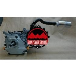 Header, Mini Bike, Single, Center Outlet, for Screw on Muffler, GX200, GX160, 6.5 Chinese OHV, & 212 Predator - GLM POWER SPORTS