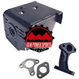 Muffler, 13 hp (GX340/390) : Aftermarket Replacement (Chinese) - GLM POWER SPORTS