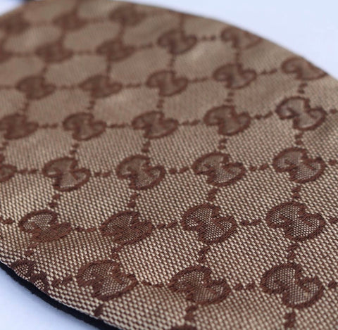 Handmade Brown or Tan Gucci Fashion Designer Face Mask or Covering