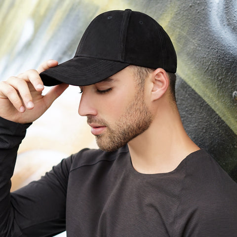 black cotton adjustable hat