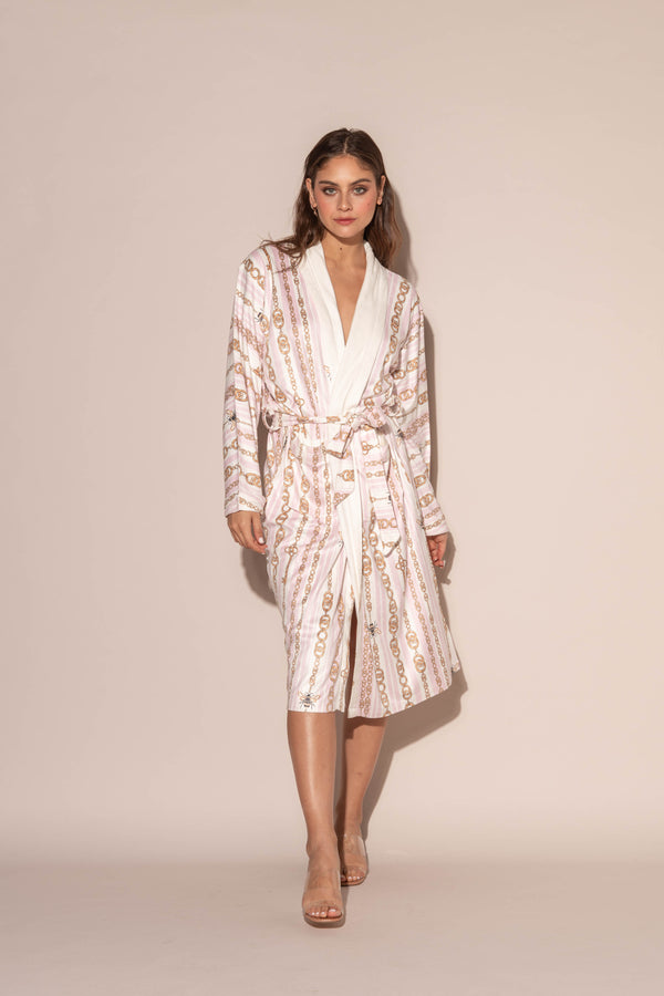 Bijoux Pink Long Robe