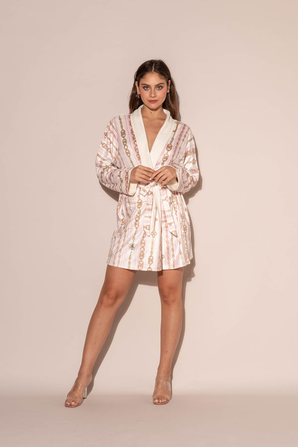 Bijoux Pink Short Robe