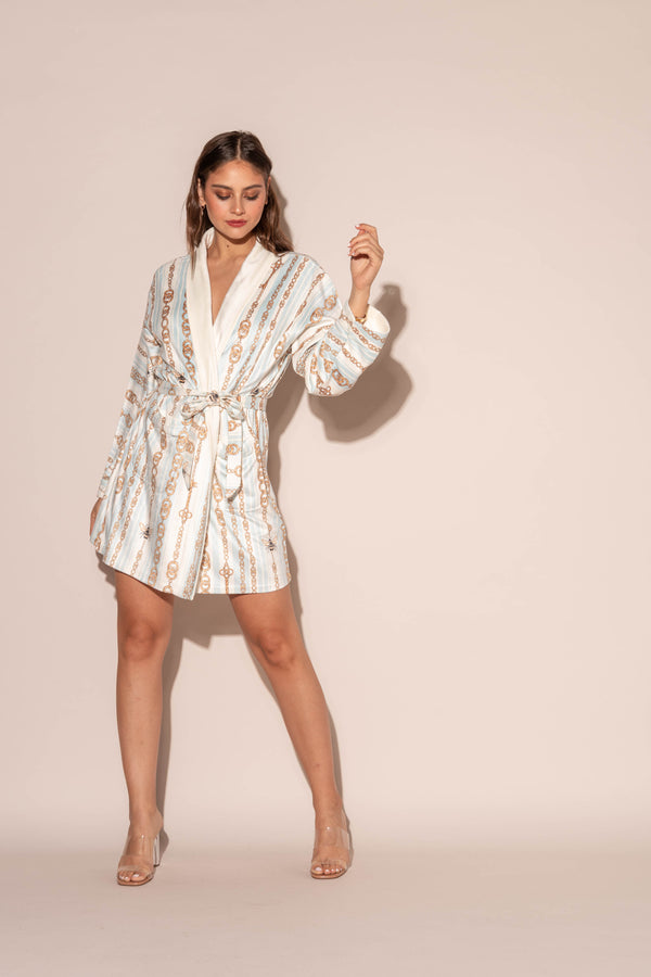 Bijoux Blue Short Robe