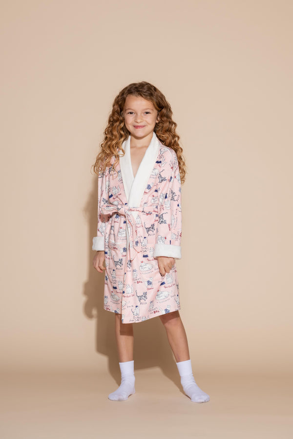 Cats Kids Robe