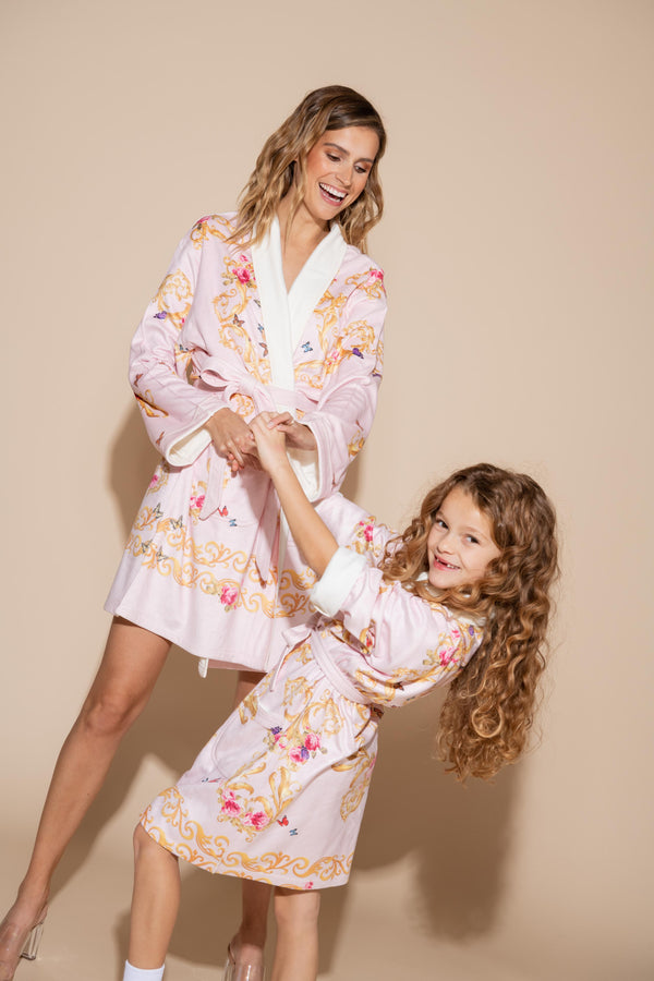 Pink Butterflies Kids Robe