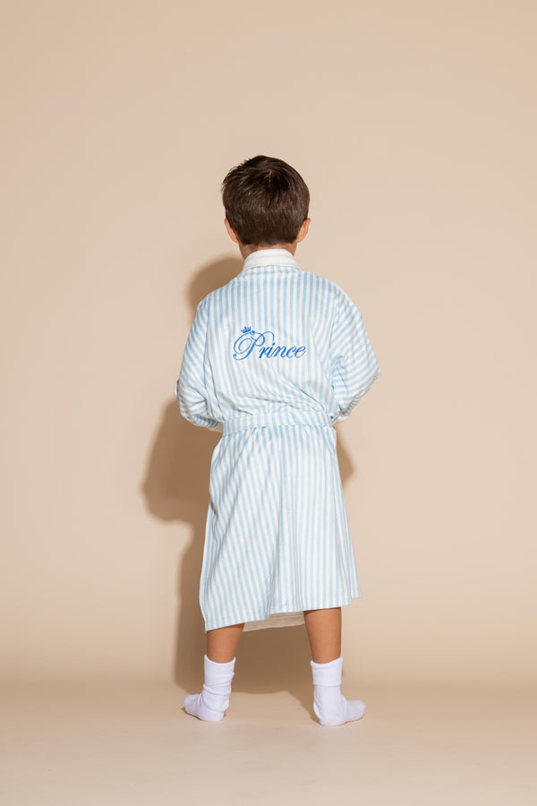 Blue Stripes w/ Prince Kids Robe