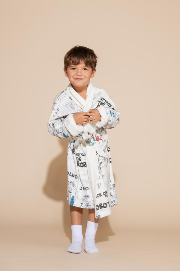 Robot Attacked Kids Robe
