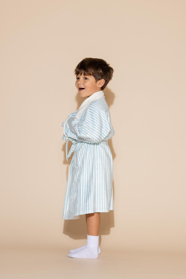 Blue Stripes Kids Robe