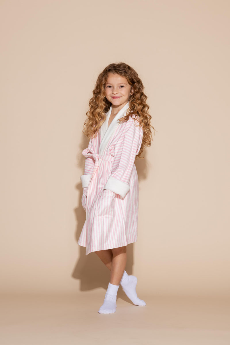 Pink Stripe w/ Princess Kids Robe