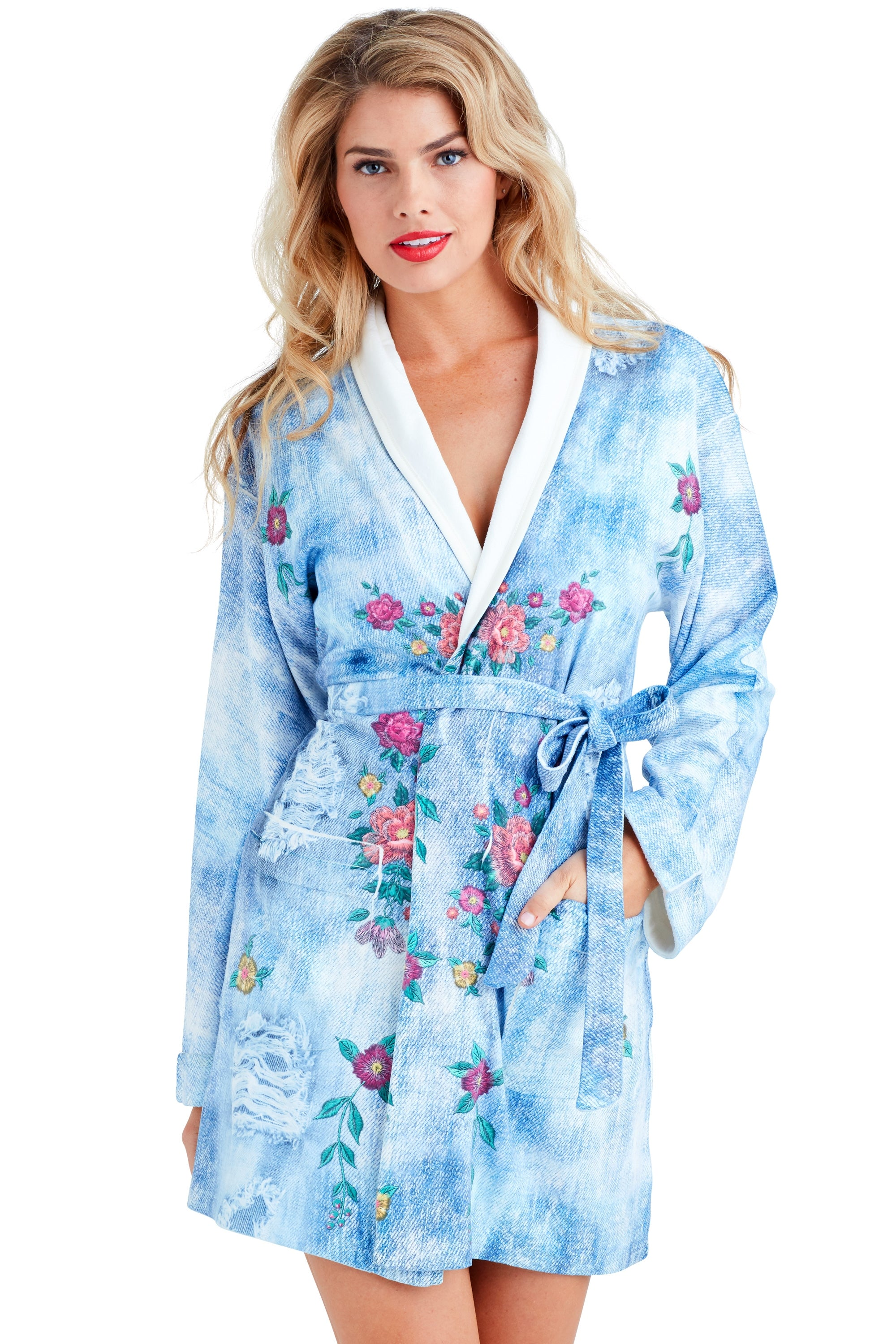 Blue Jean Short Robe