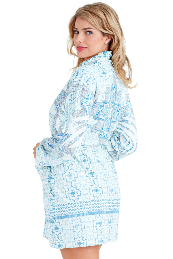 Nirvana Blue Short Robe