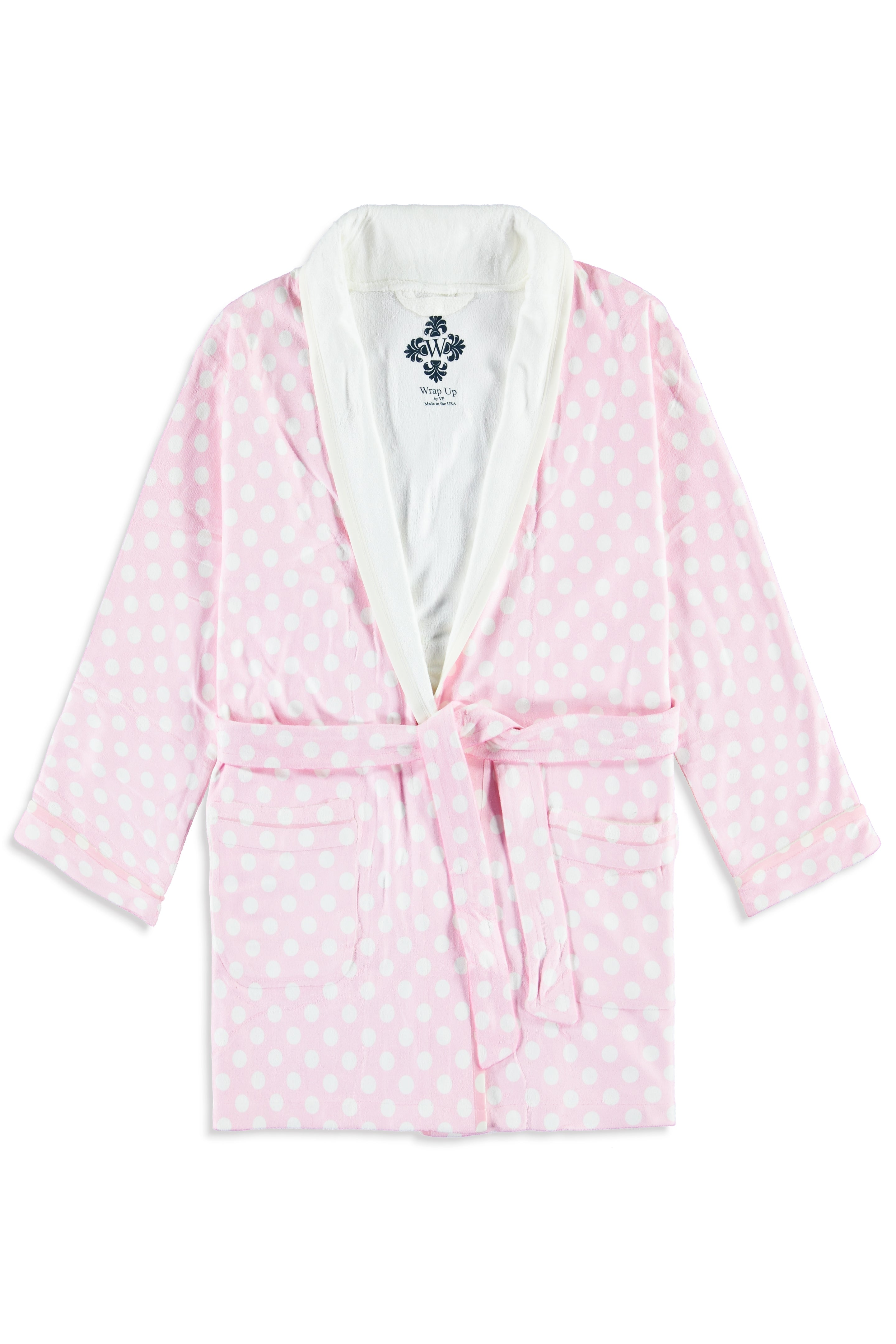 Pink Polka Dot w/ Princess Kids Robe