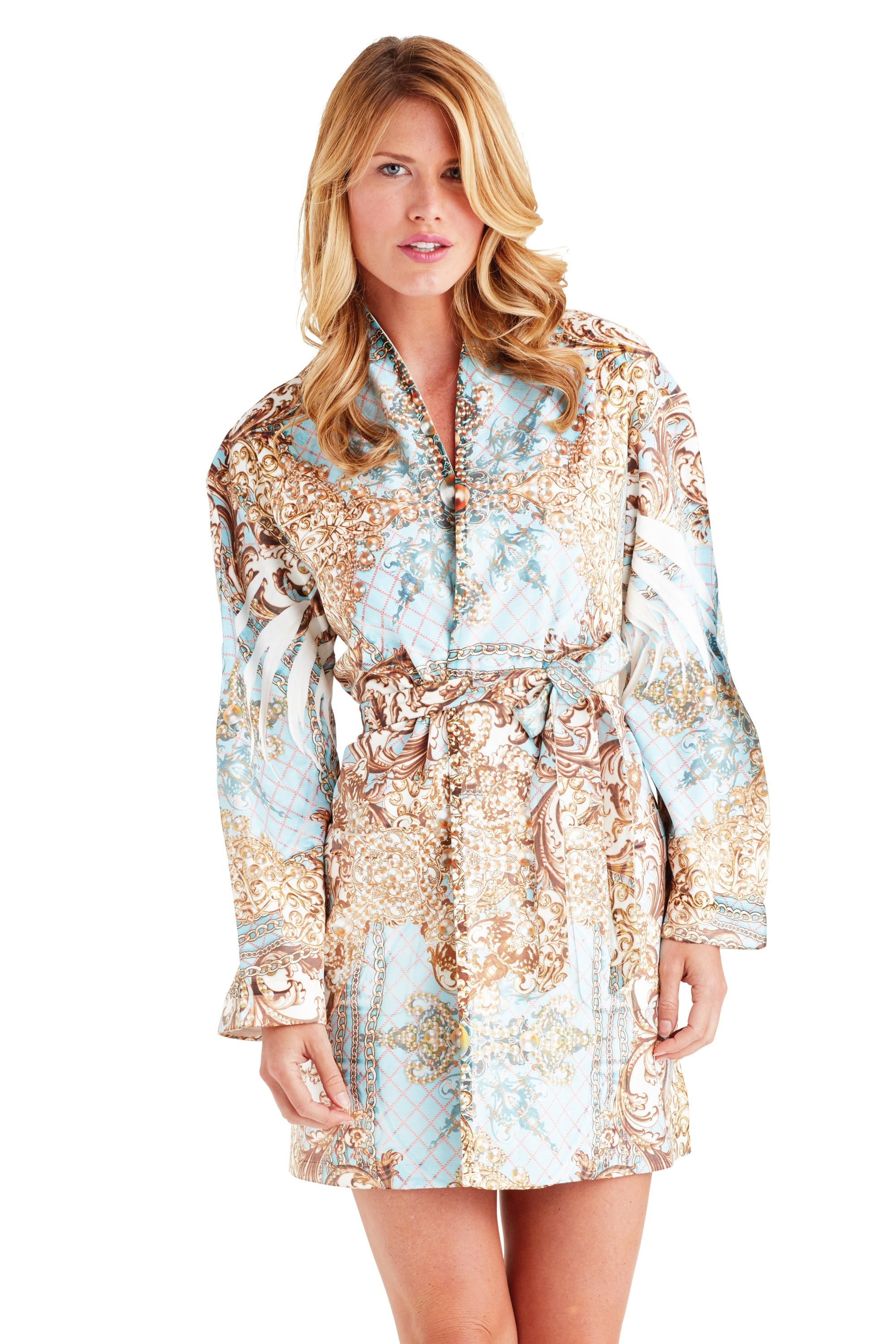 Pearl Maximum Blue Short Robe