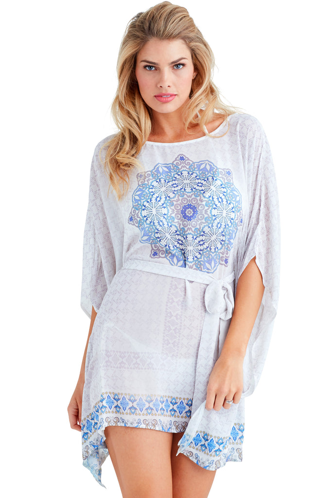 Moon Rising Caftan Mini Dress