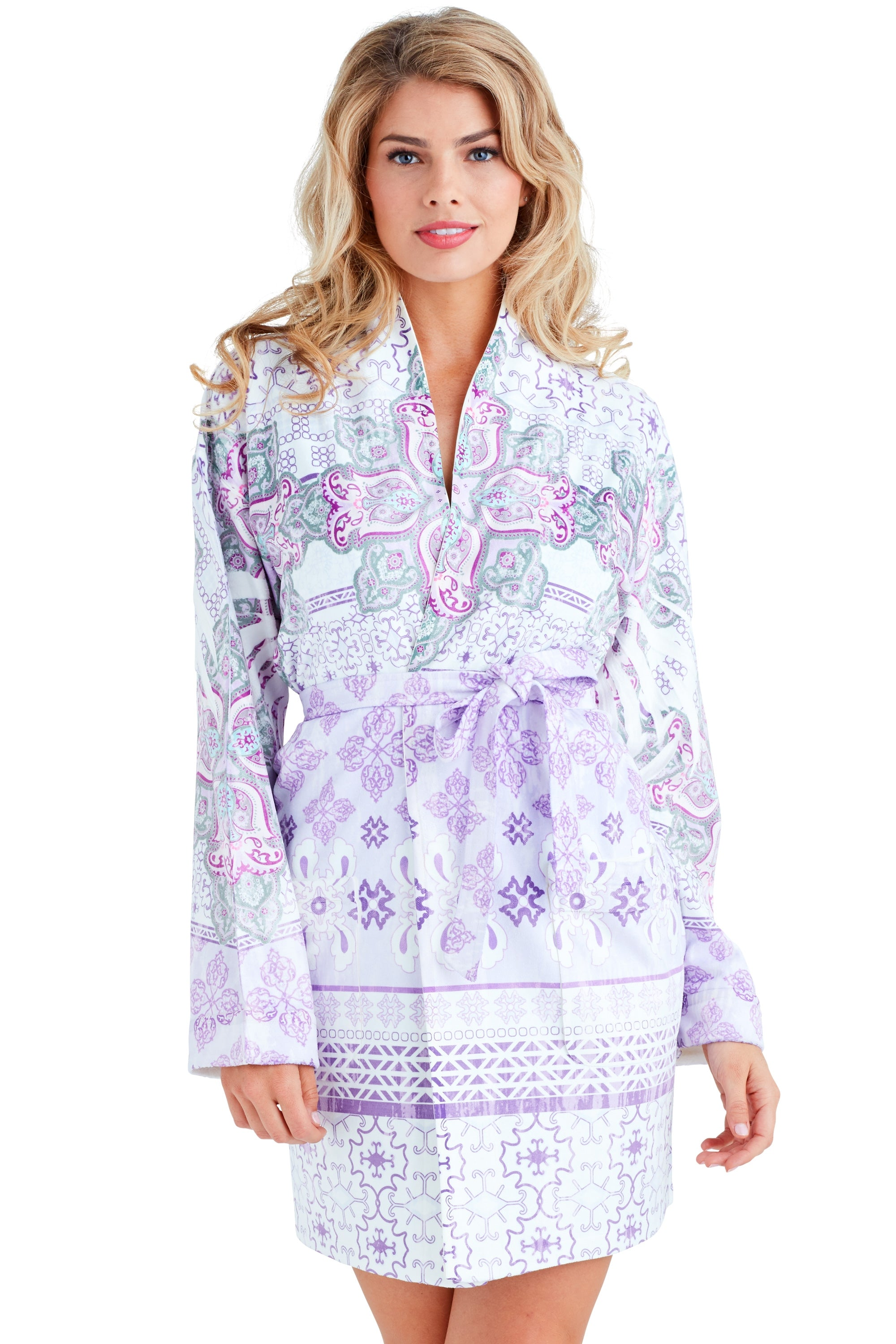 Nirvana Purple Short Robe