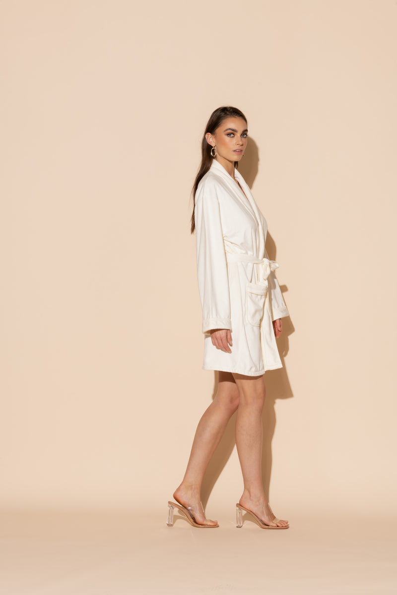 Cream Short Robe
