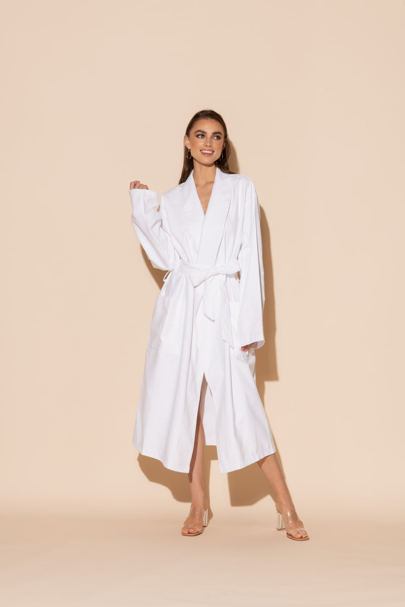 White Hotel Single Layer Robe