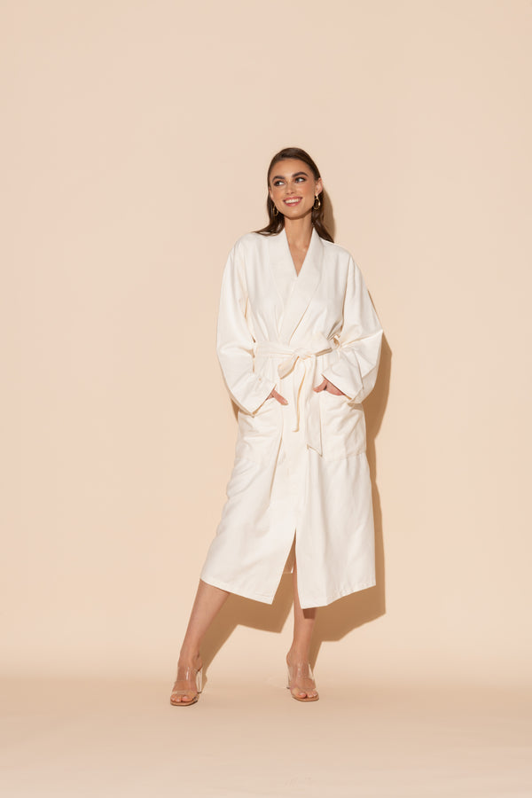 Ecru Hotel Single Layer Robe