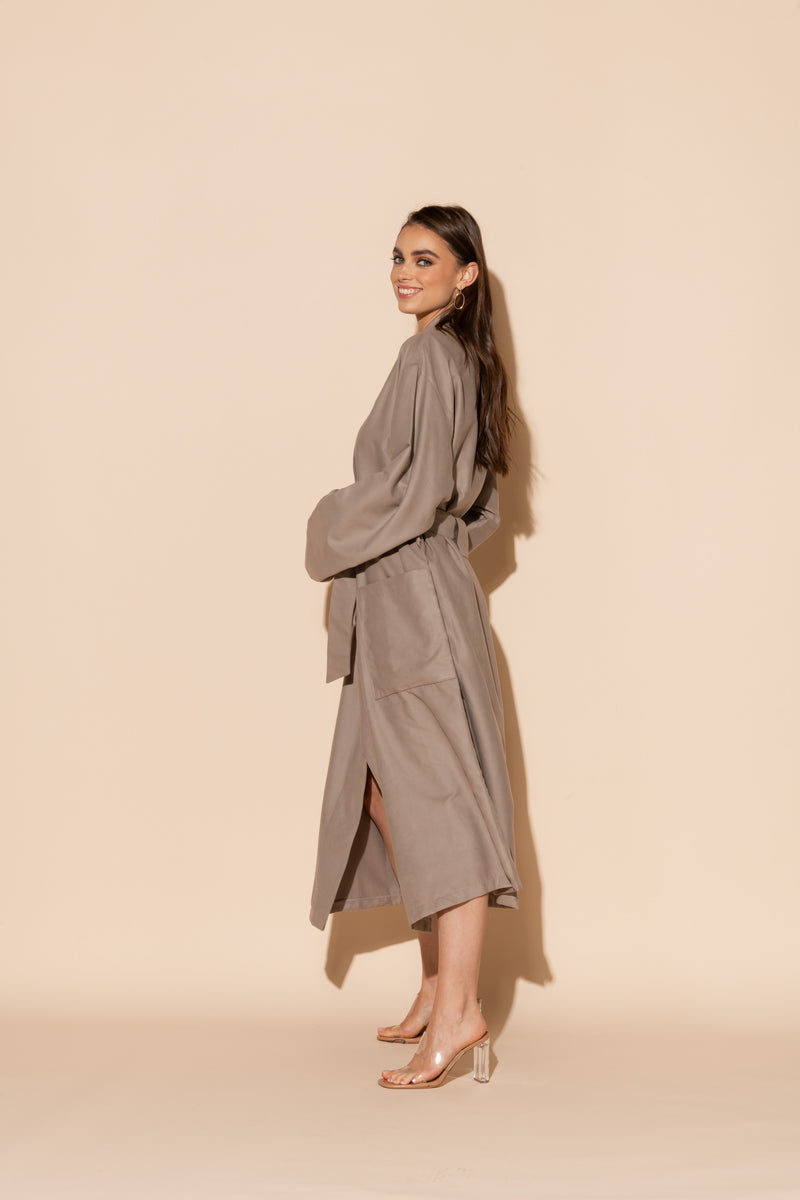 Taupe Hotel Single Layer Robe