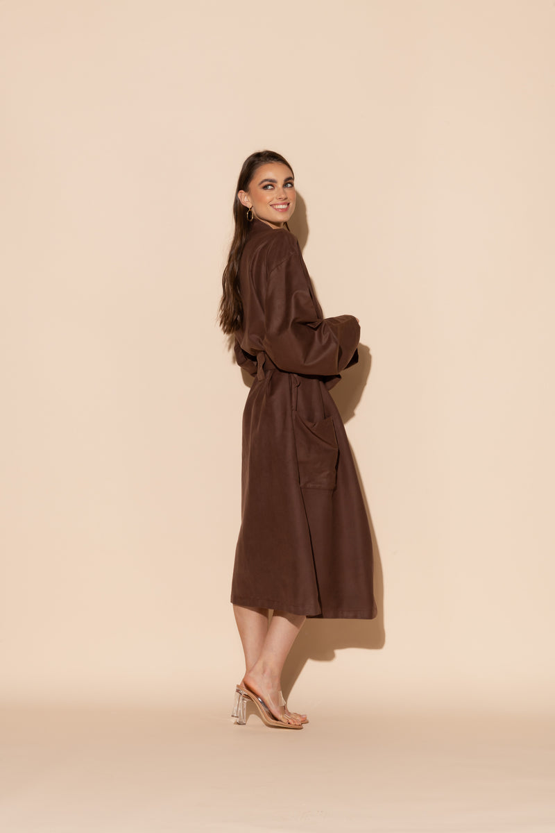 Brown Hotel Single Layer Robe