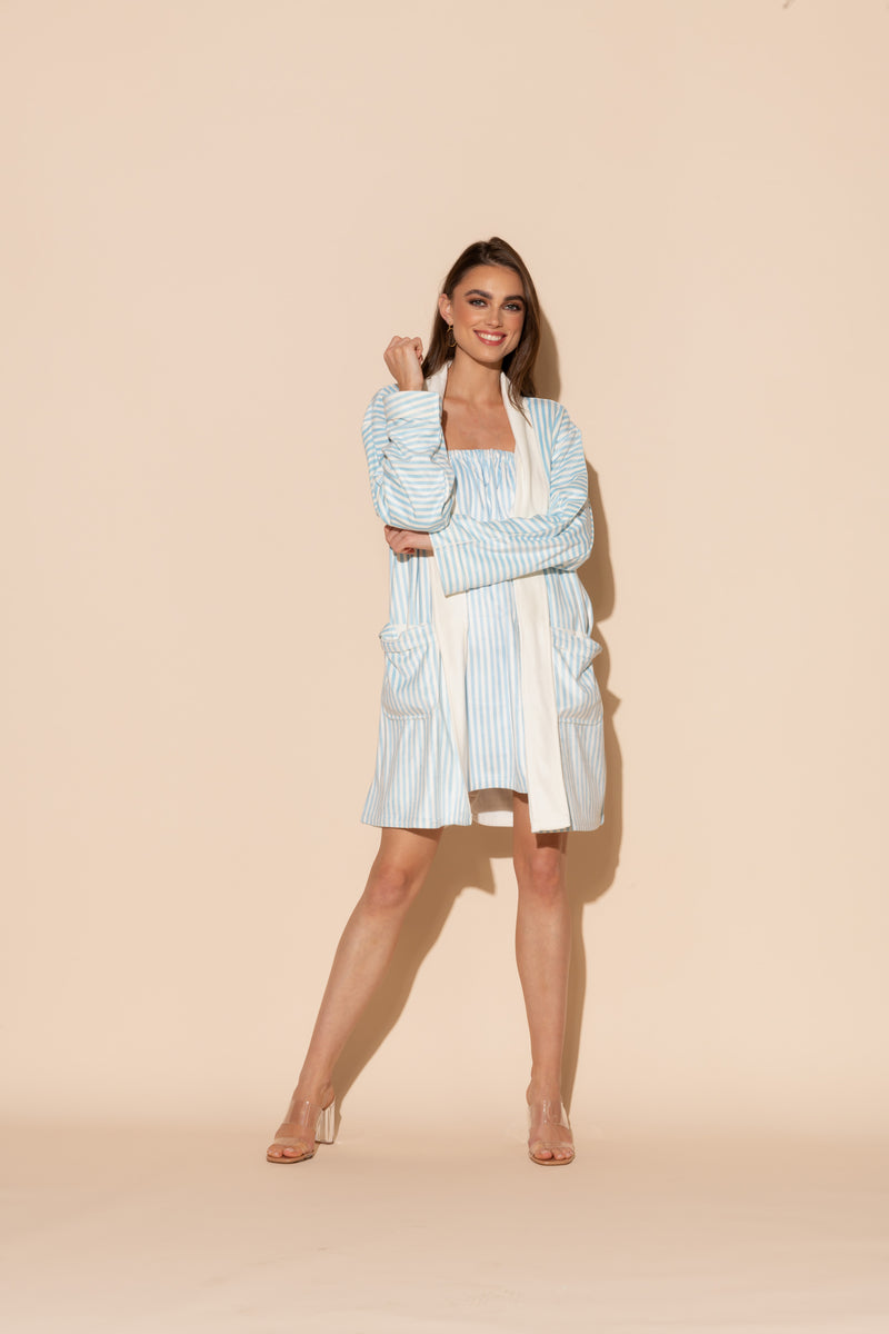 Blue Stripes Short Body Wrap Bundle
