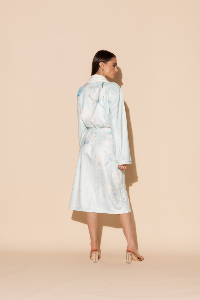Serena Blue Long Robe
