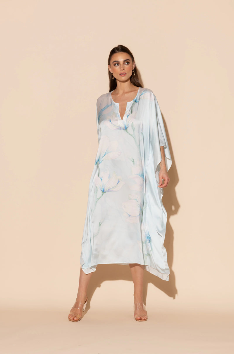 Serena Blue Long Caftan