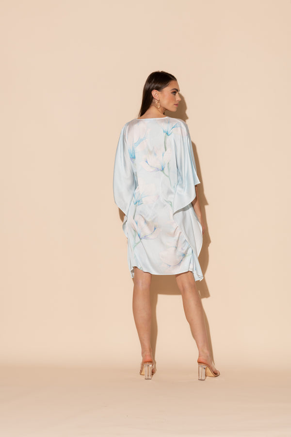 Serena Blue Short Caftan