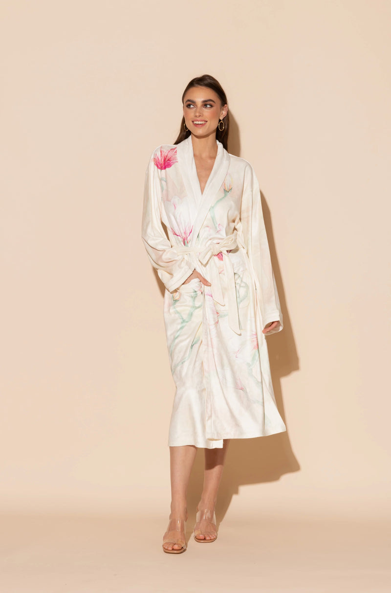 Serena Pink Long Robe