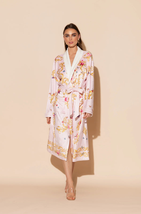 Pink Butterflies Long Robe
