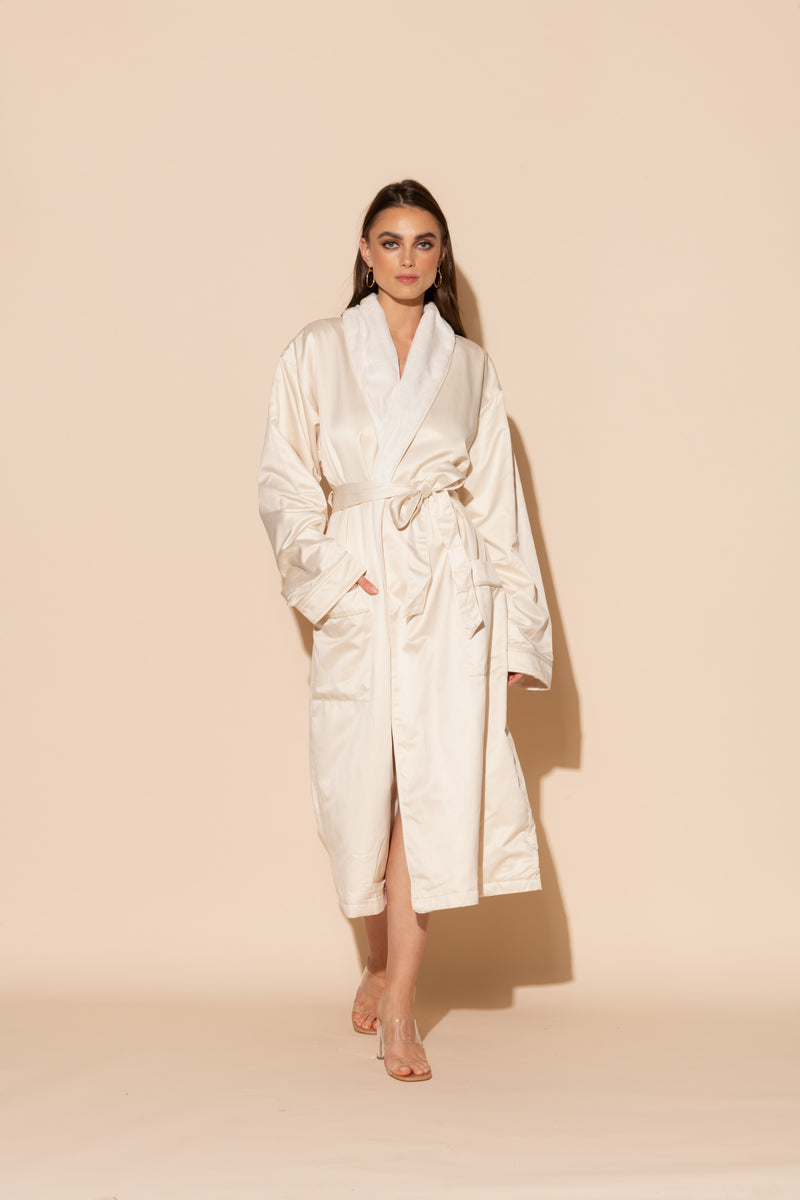 Ecru Hotel Double Layer Robe