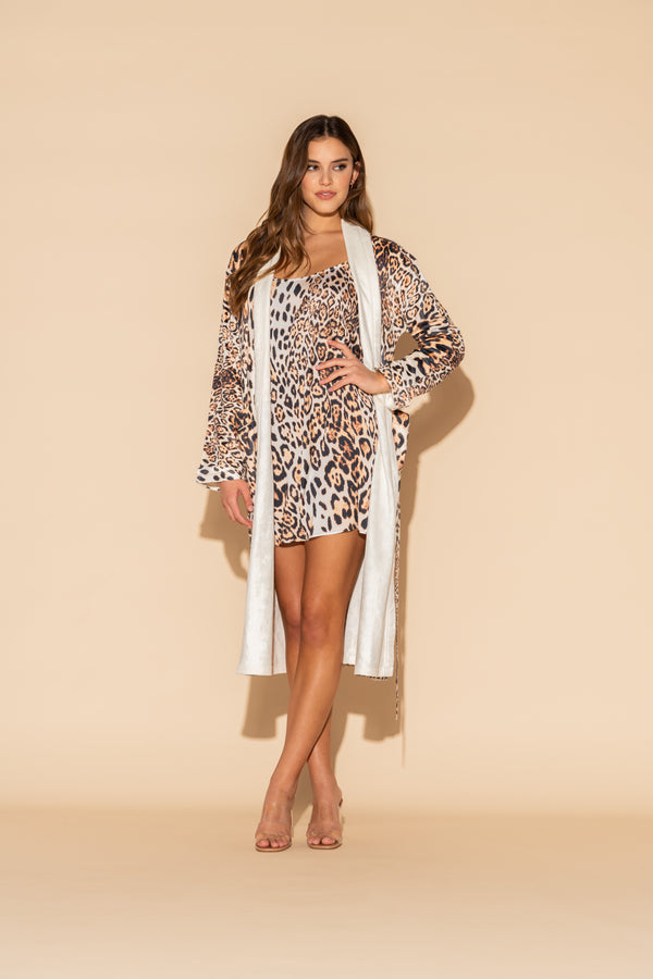 Donnatella Leopard Short Chemise Bundle