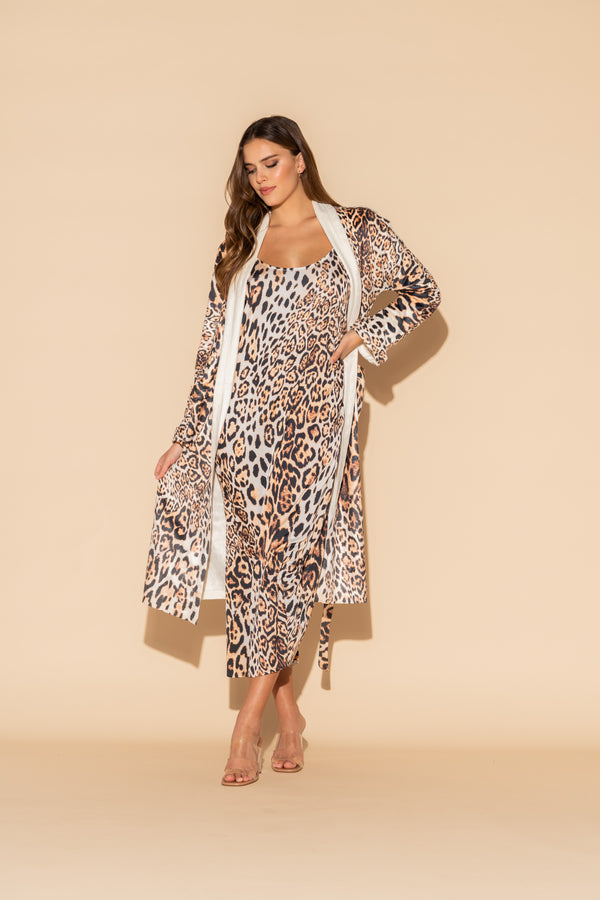 Donnatella Leopard Long Chemise Bundle