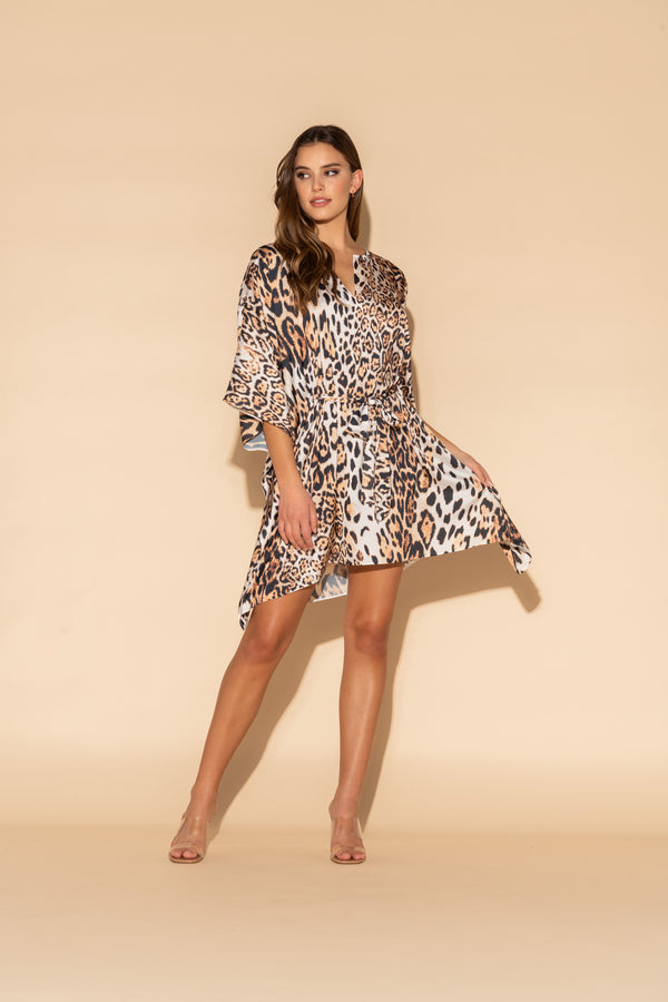 Donnatella Leopard Short Caftan