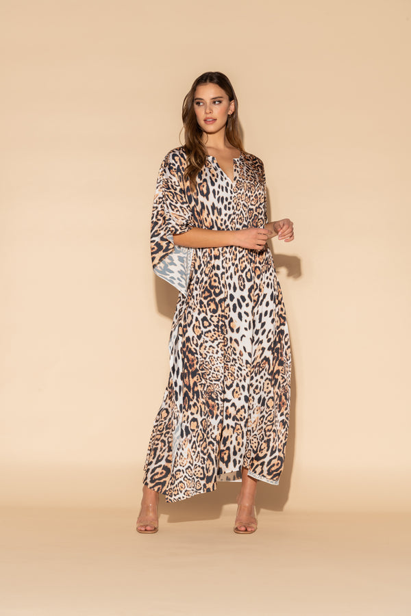 Donnatella Leopard Long Caftan
