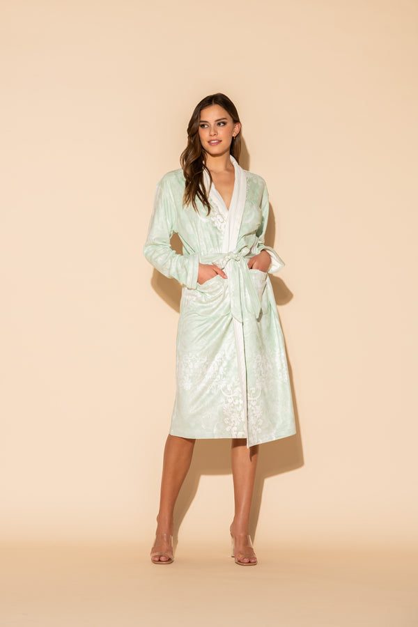 Romantique Green Long Robe