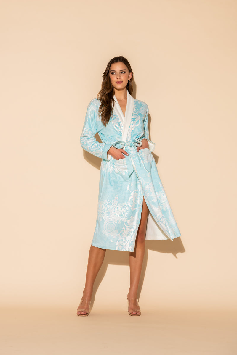 Romantique Blue Long Robe