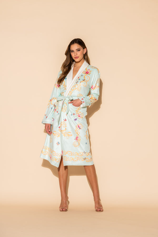 Blue Butterflies Long Robe