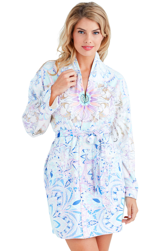 Purple Rain Short Robe