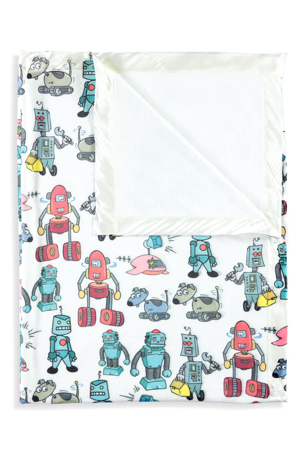 Robot - Attacked Kids Small Blanket