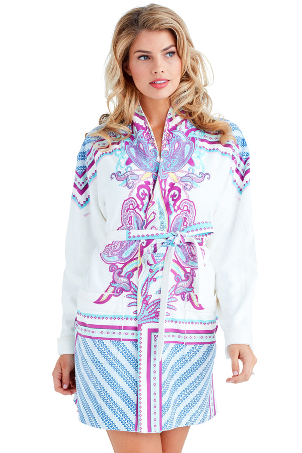 Coachella Purple Short Robe