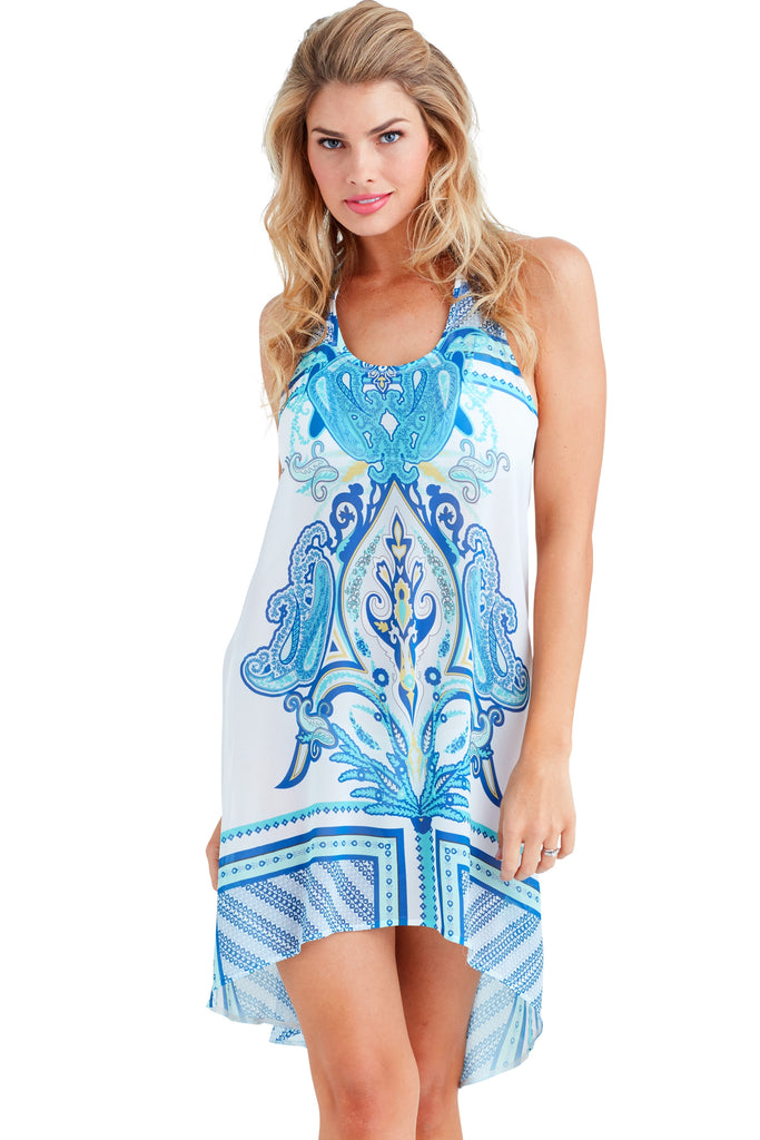 Coachella Blue Racerback Dress