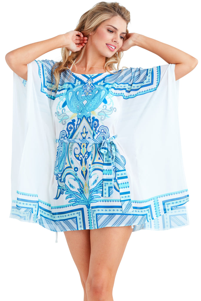 Coachella Blue Caftan Dress