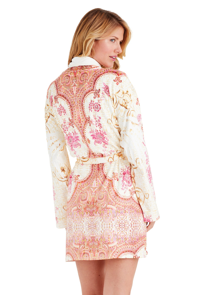 Marrakesh Pink Short Robe
